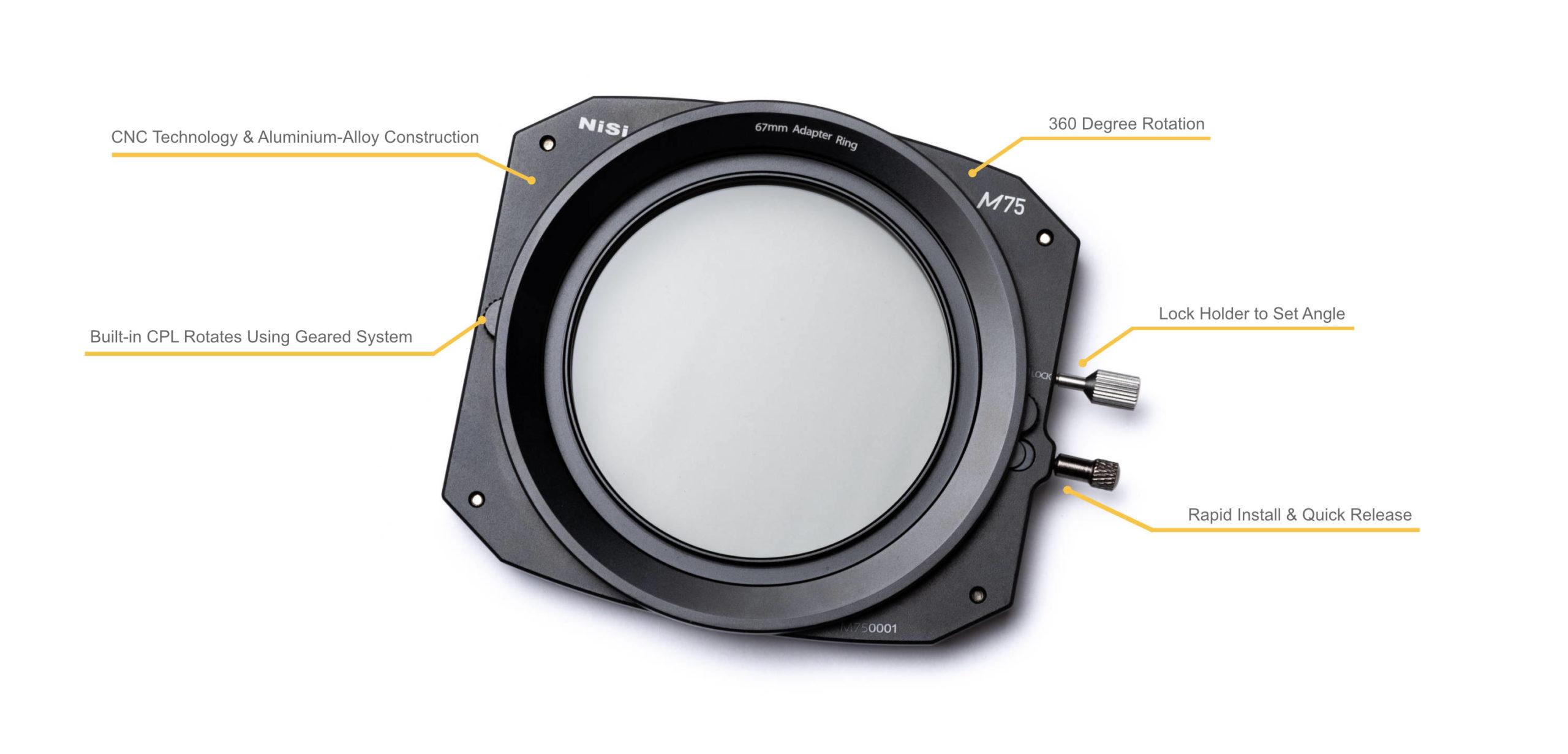NiSi 75mm Filter Holder M75